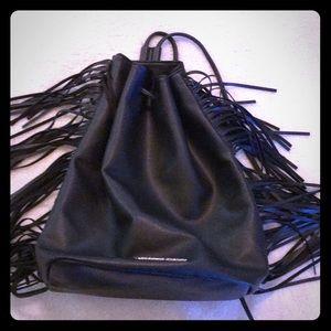 Victoria's Secret Black faux leather backpack